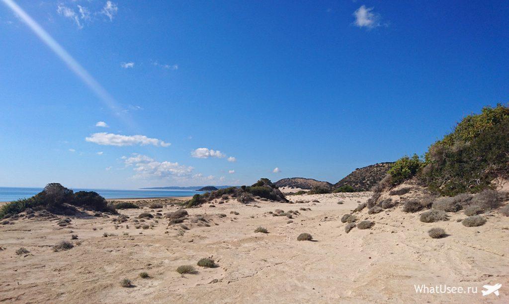 Пляж Golden Sands beach на Северном Кипр