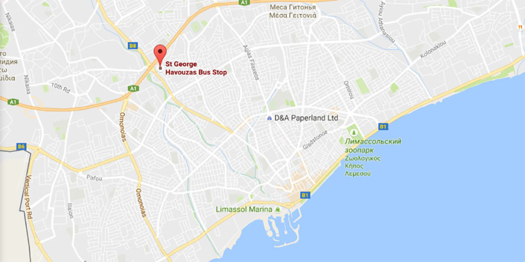 Где останавливается автобус из аэропорта в Лимассоле