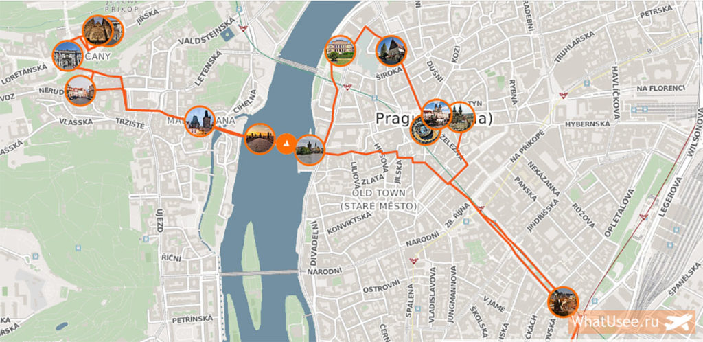 Самостоятельный маршрут по Праге зимой