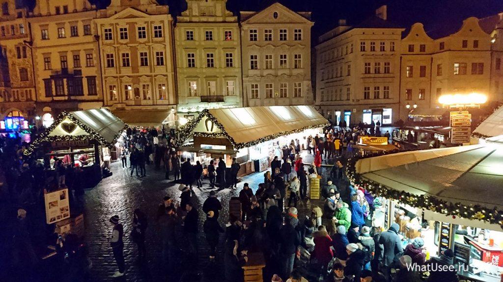 Староместская площадь в Праге вечером