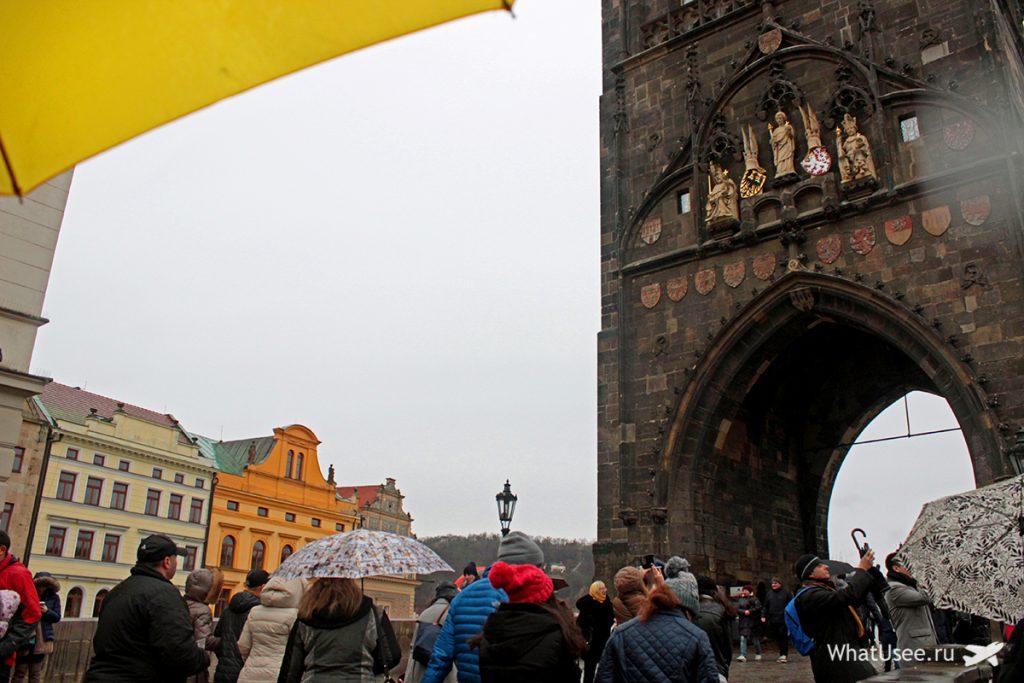 Прага зимой на Рождество