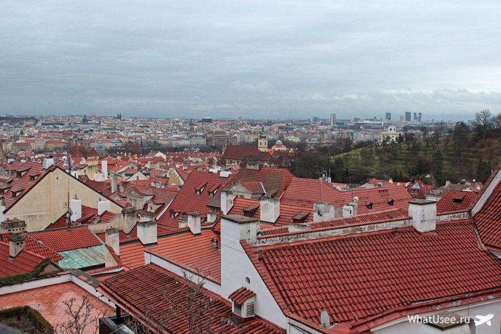 Вид на Прагу из Градчан