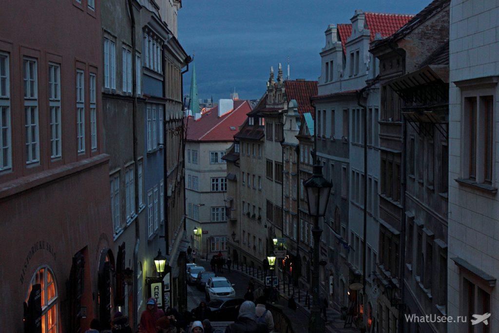 Вечер в Праге зимой