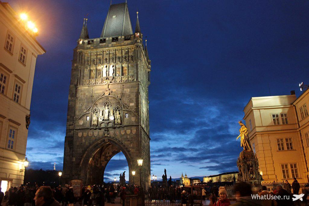 Карлов мост в Праге вечером