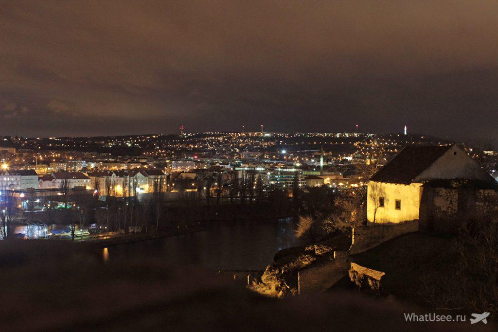 Вид на Влтаву с Вышеграда зимой