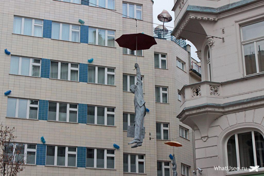 Статуя Зигмунда Фрейда в Праге