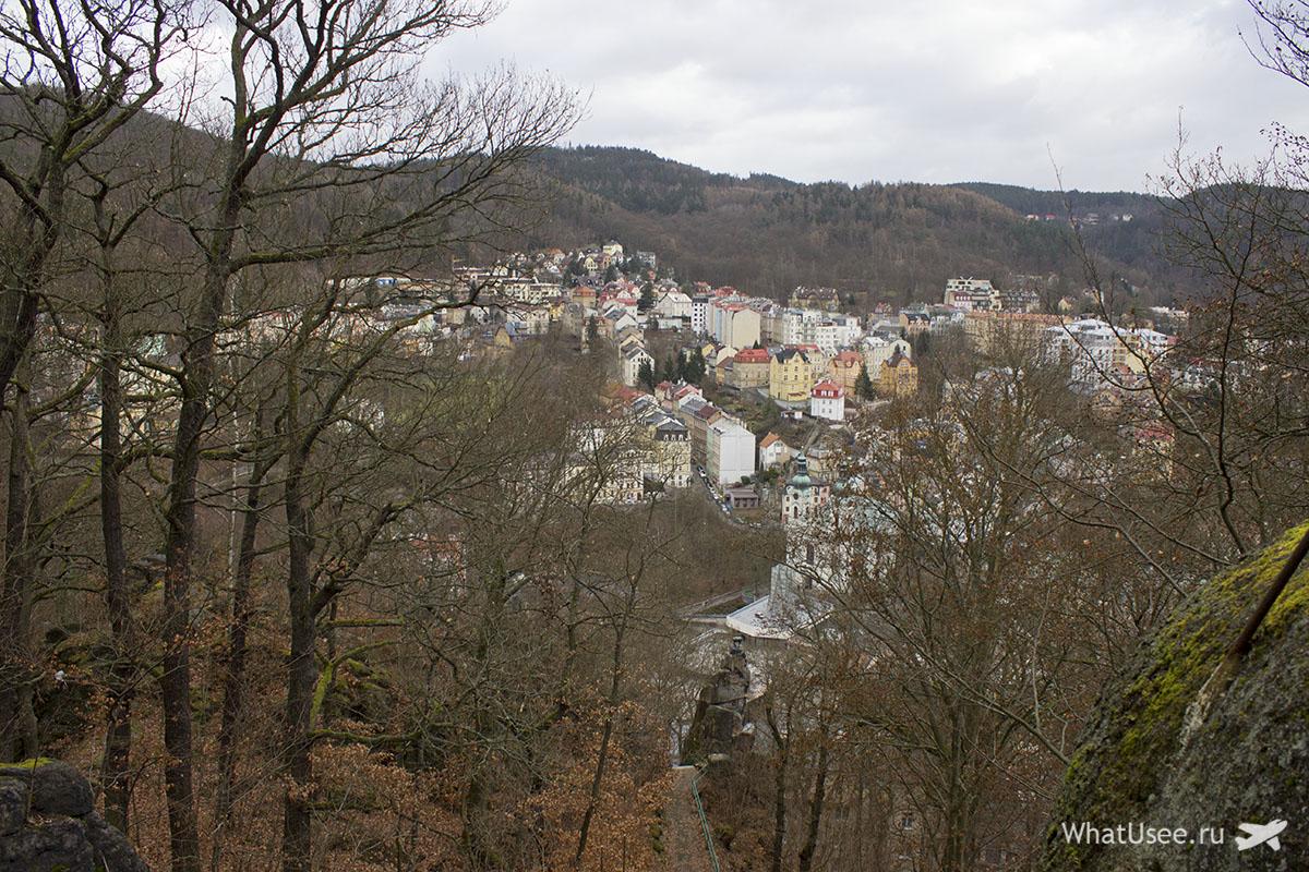 Карловы Вары, вид на город