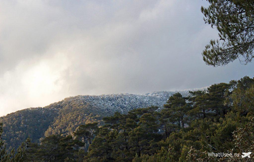 Снег в Троодосе