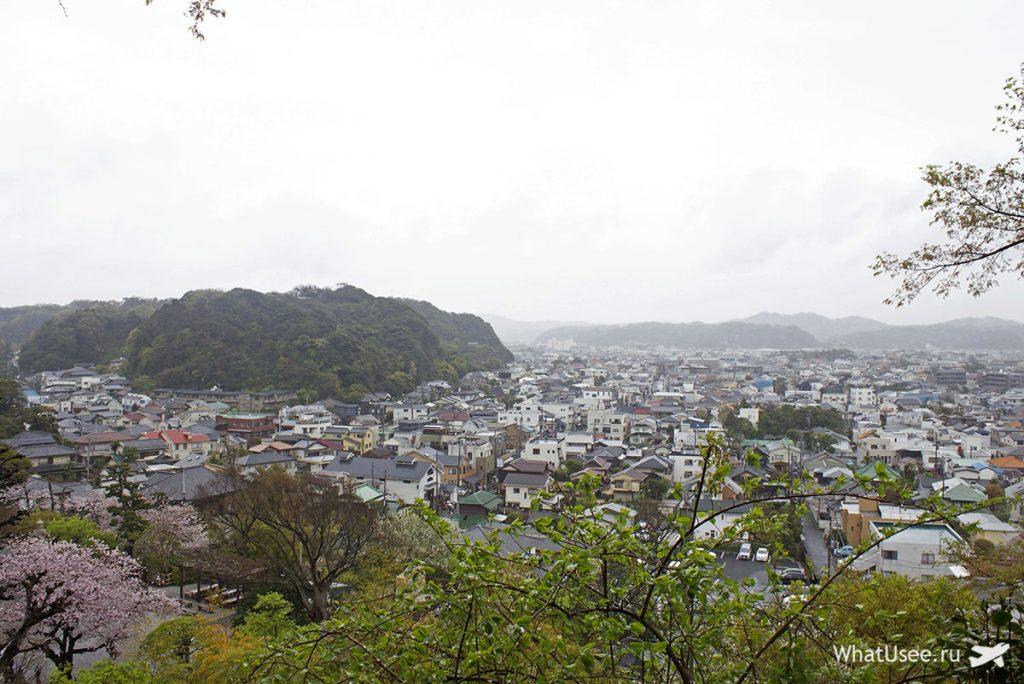 Вид на залив Сагами в Камакуре