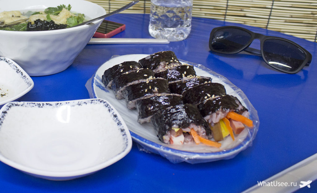 Корейские роллы кимпаб