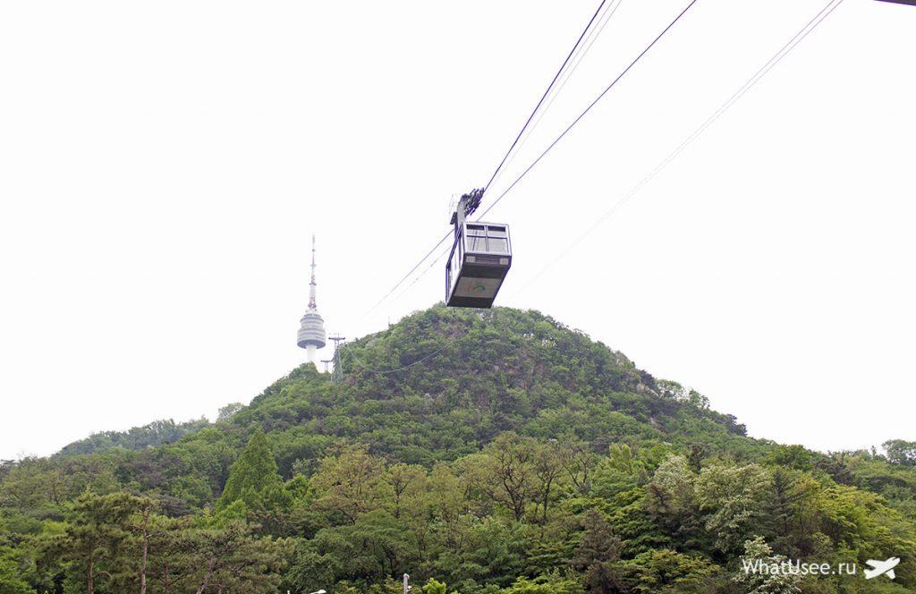 Фуникулёр на гору Намсан в Сеуле