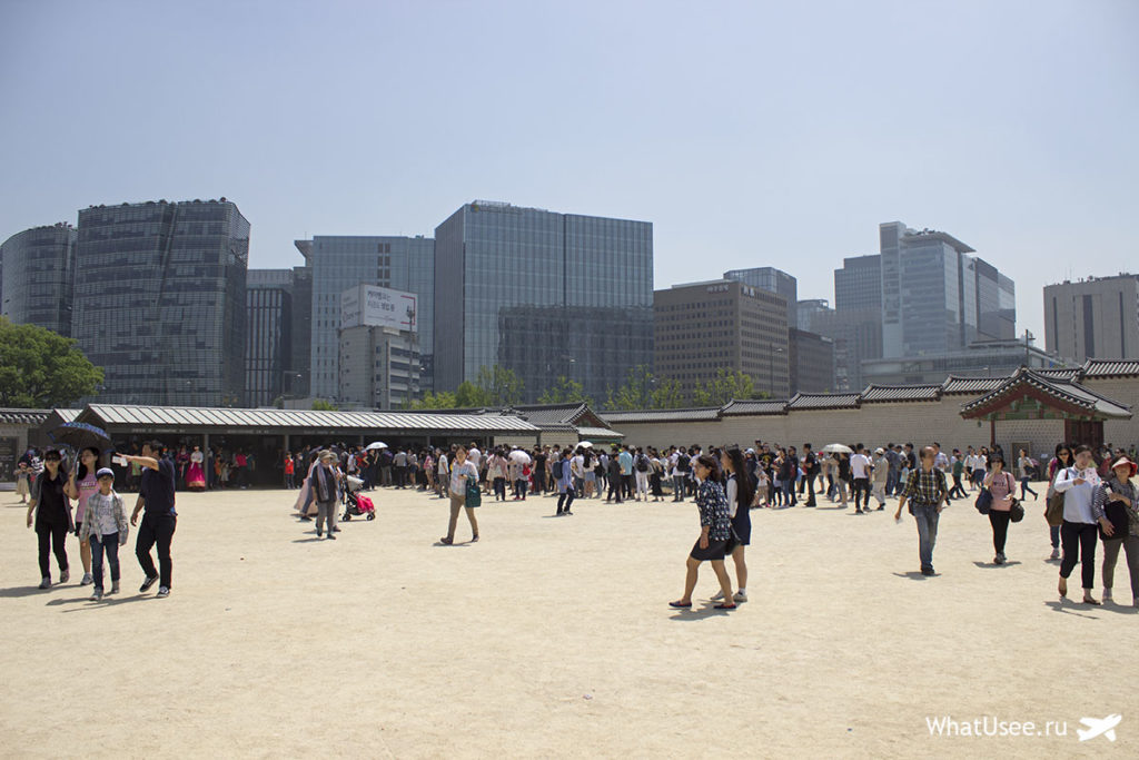 Посещение дворца Кёнбоккун