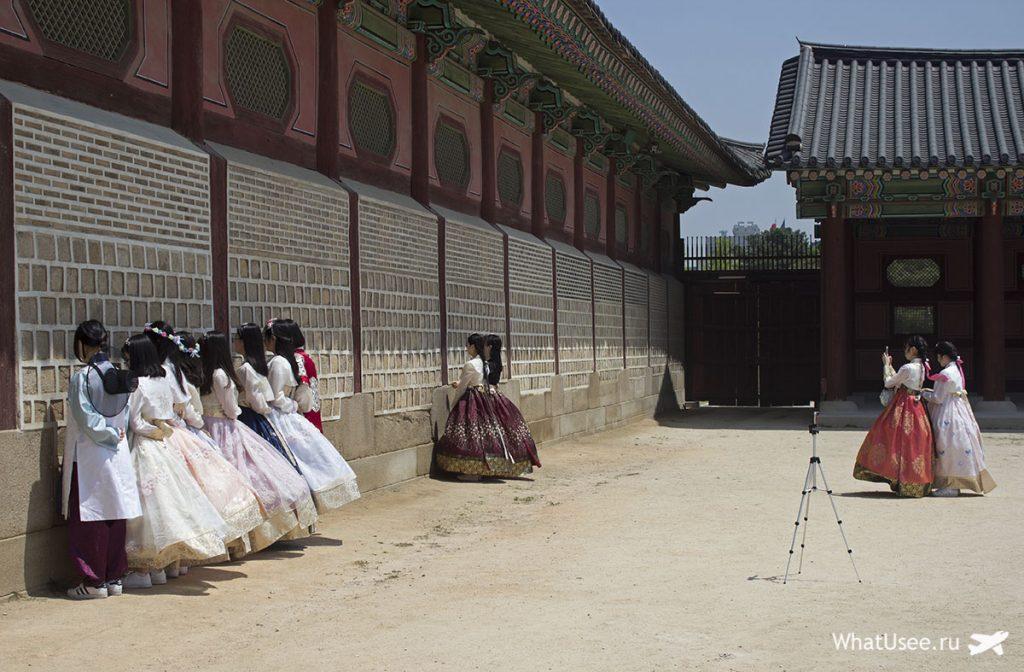 Традиционные костюмы ханбок