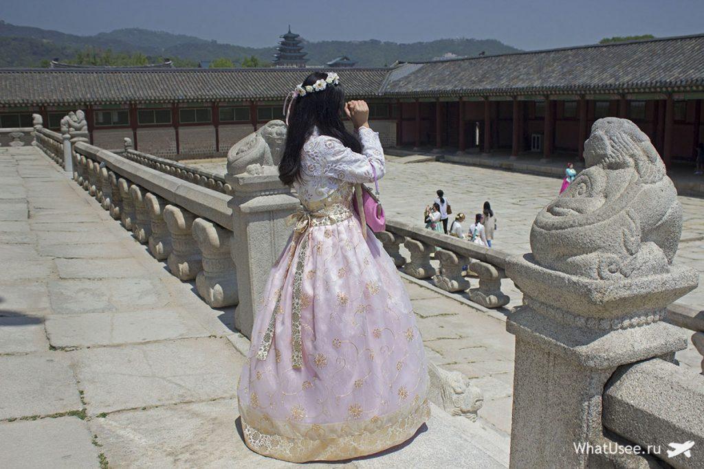 Туристы в Сеуле