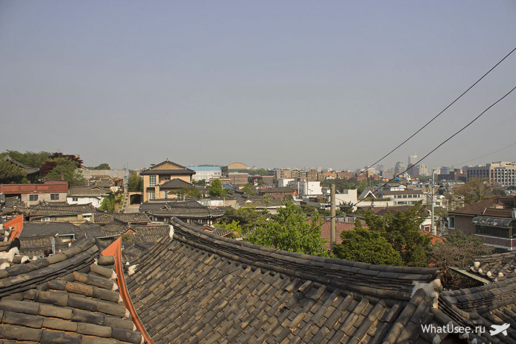 Деревянные дома ханок в Сеуле