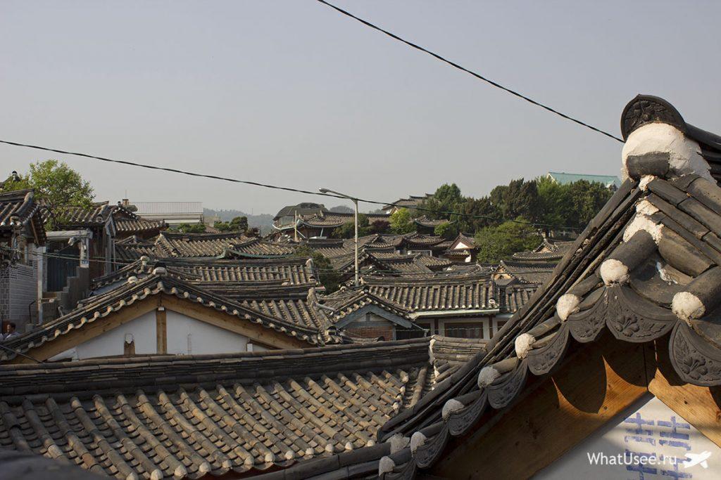 Деревня Букчон в Сеуле в Южной Корее