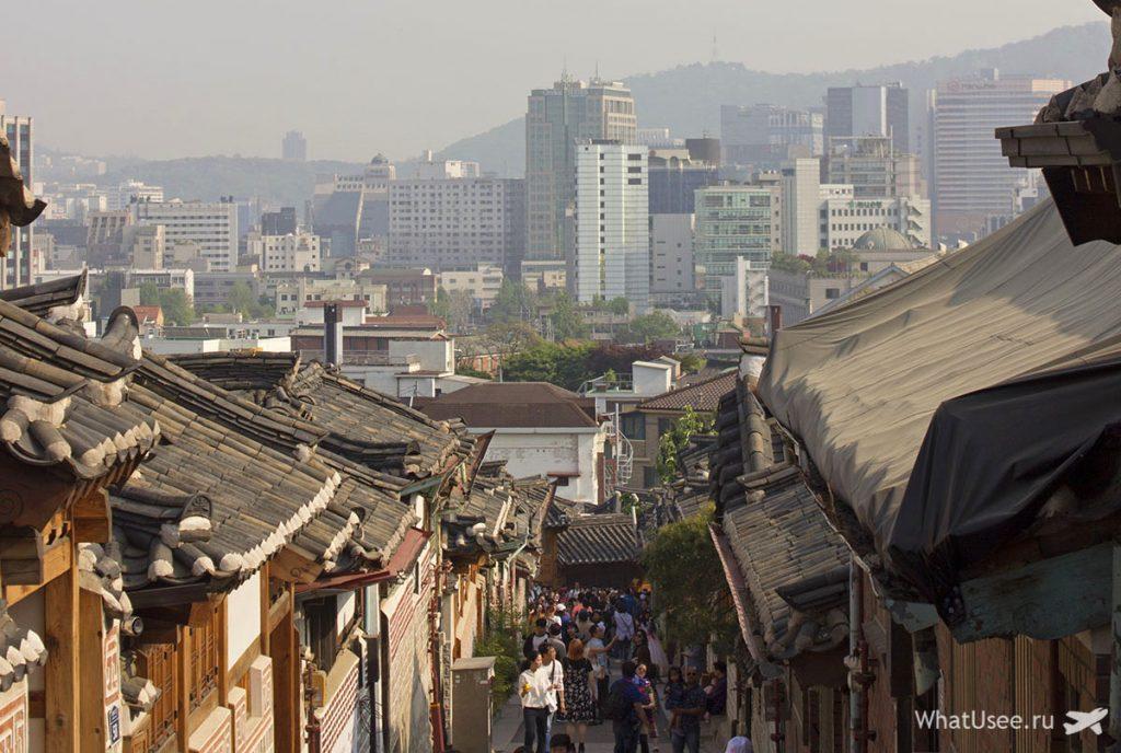 Фольклорная деревня Букчон и дворец Кёнбоккун в Сеуле