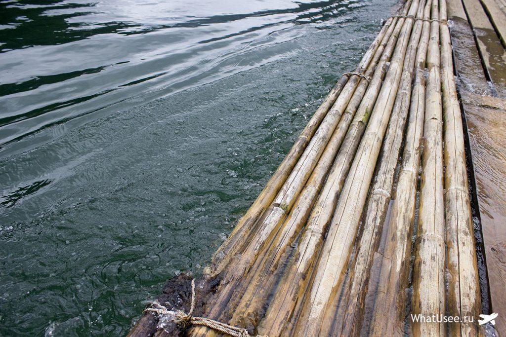 На бамбуковых плотах по озеру Чео Лан