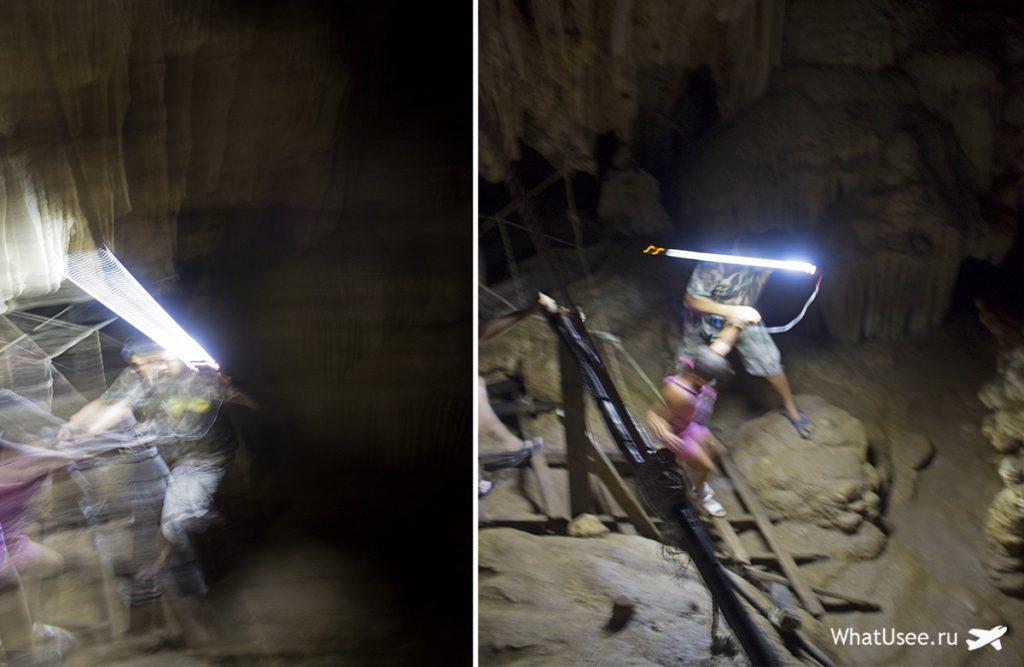 Коралловая пещера на озере Чео Лан
