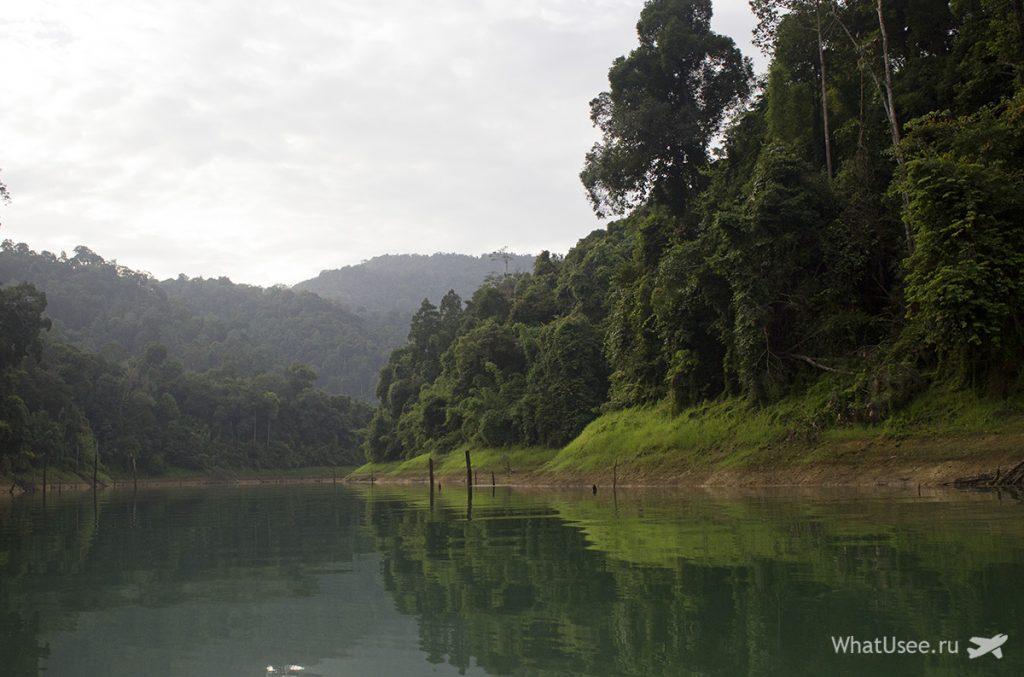 Утреннее сафари на озере Чео Лан