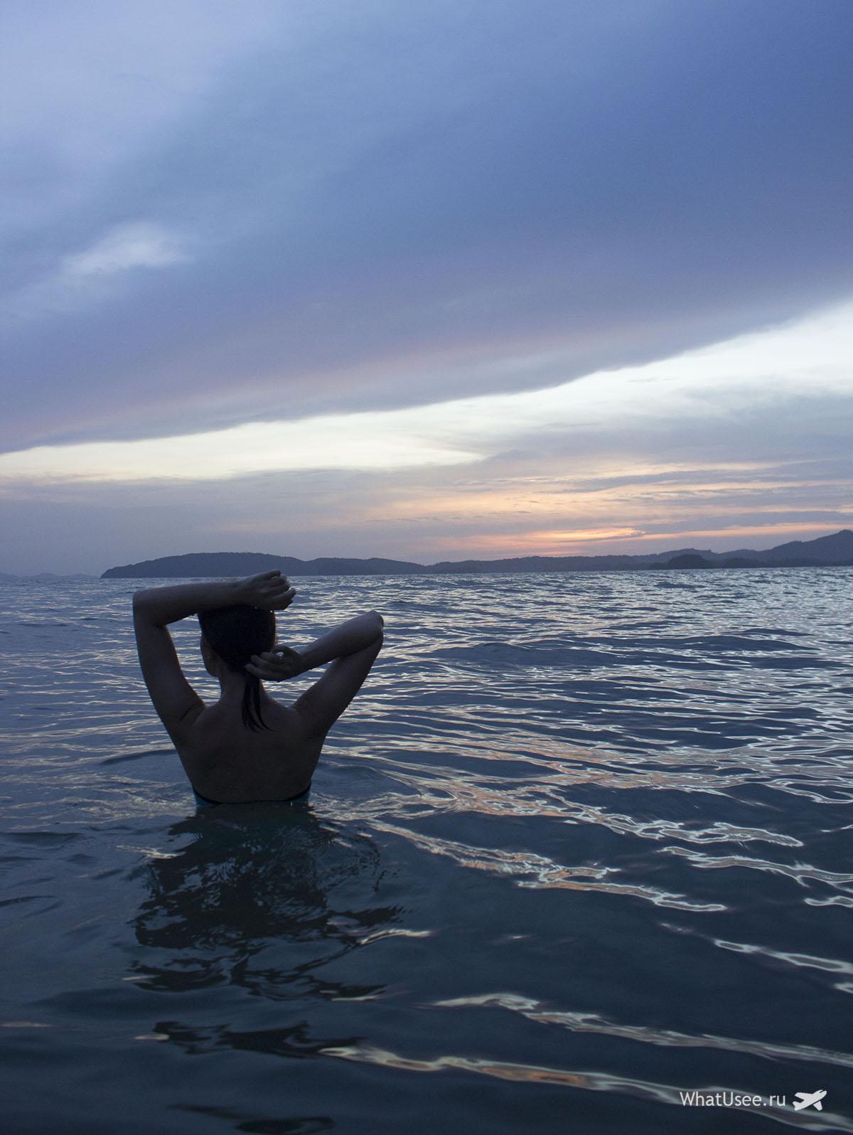 Закаты на пляже Пай Плонг в Ао Нанге