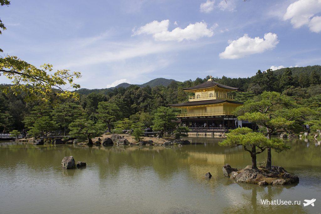 Золотой павильон Кинкакудзи в Киото