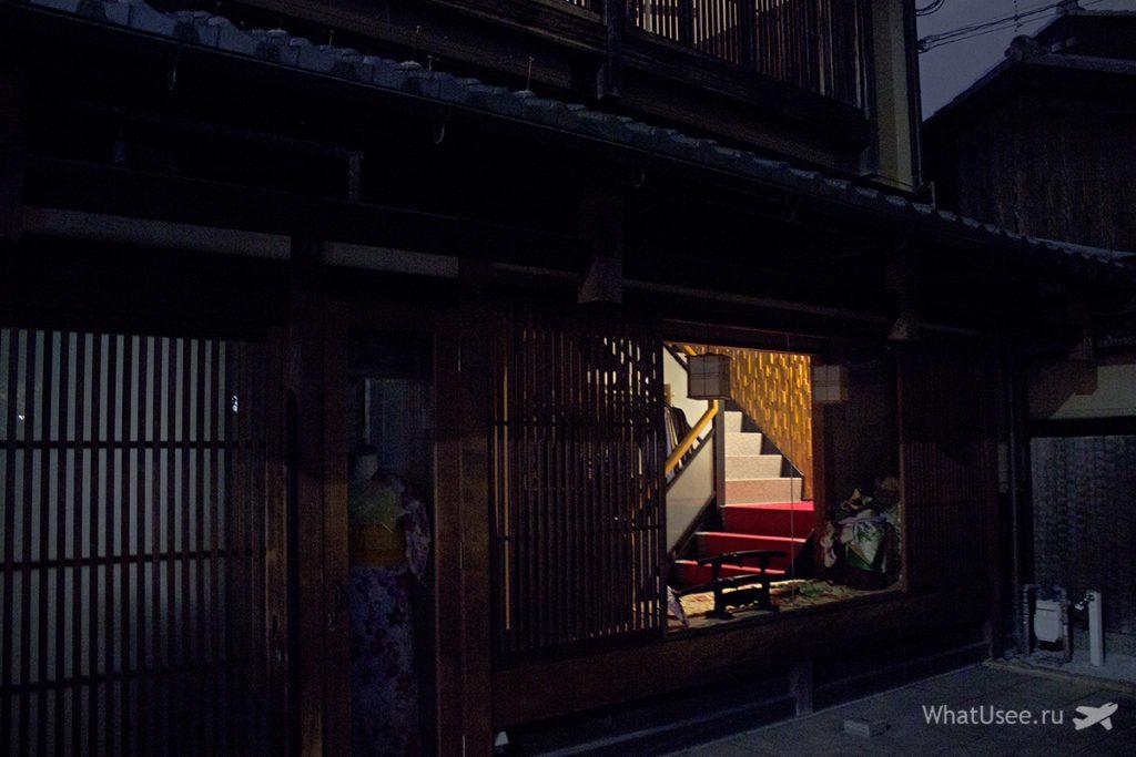 Гион в Киото ночью