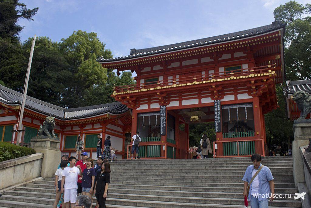 Храм Ясака-дзиндзя в Гионе