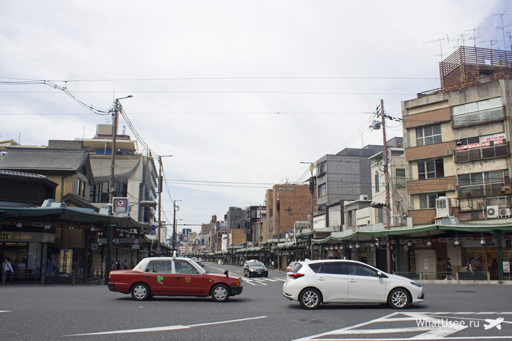 Улица Shijo-dori в Киото