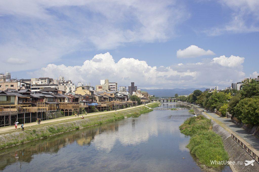 Река Камогава в Киото