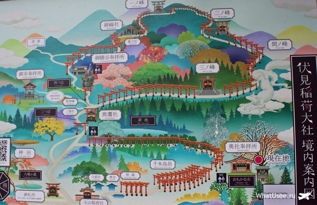 Карта Фусими Инари