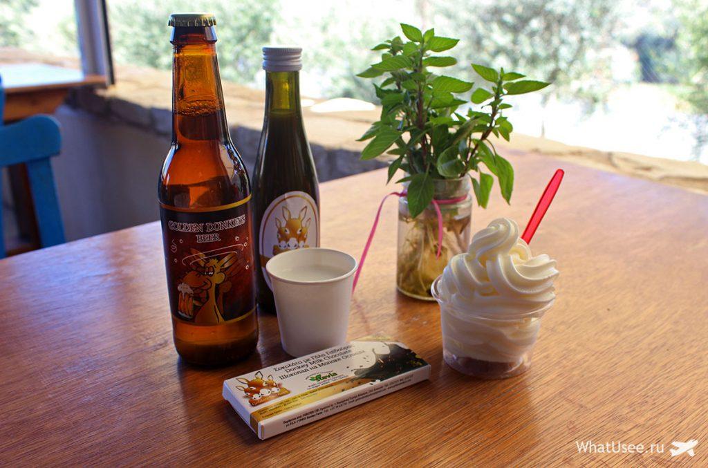 Продукты из ослиного молока на Кипре