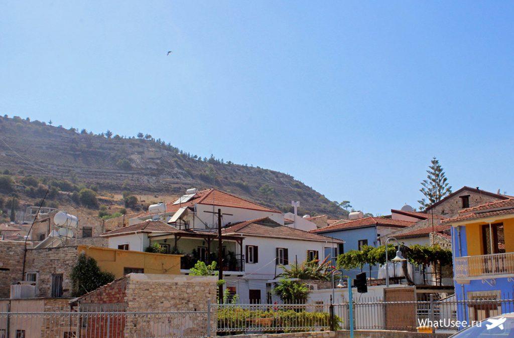 Улицы деревни Лефкара на Кипре