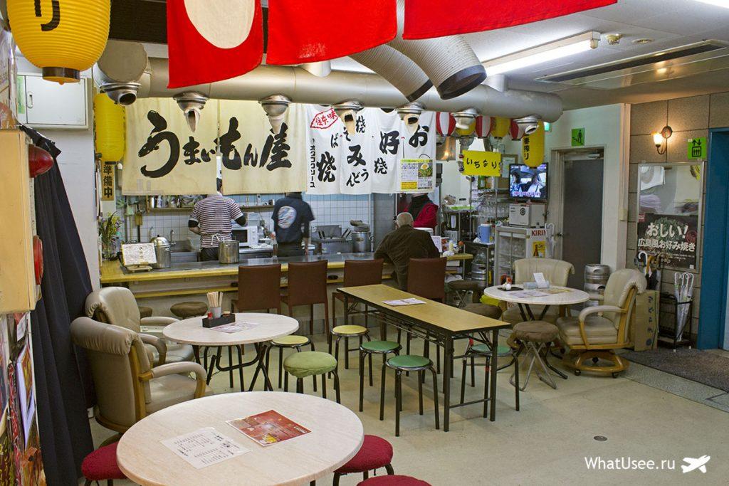 Ресторан окономияки в Хиросиме