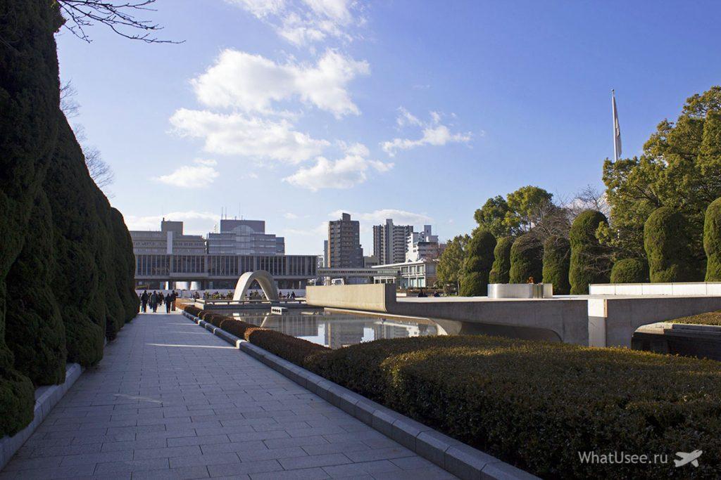 Парк мира в Хиросиме зимой