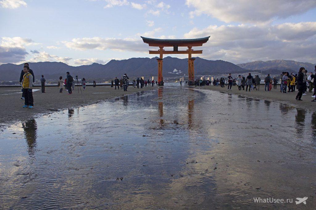 Тории святилища Itsukushima Shrine