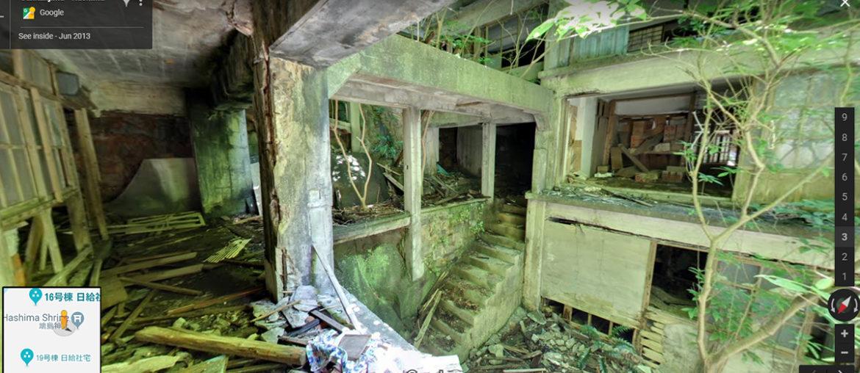 Внутри города-призрака Хасима в Японии