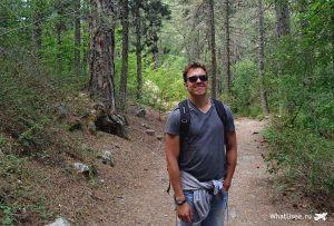 Дорога к водопаду Каледония Кипр