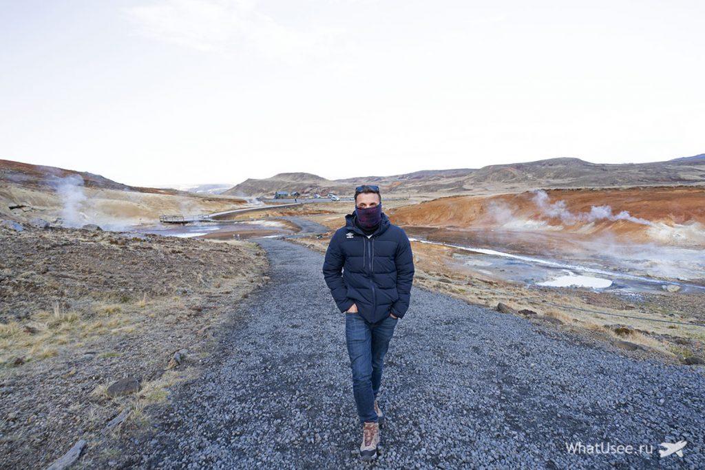Геотермальные зоны полуострова Рейкьянес в Исландии