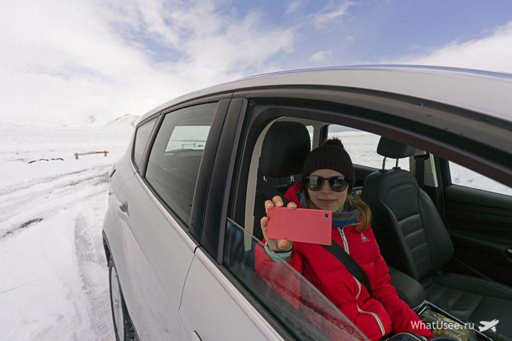 Машина в Исландии