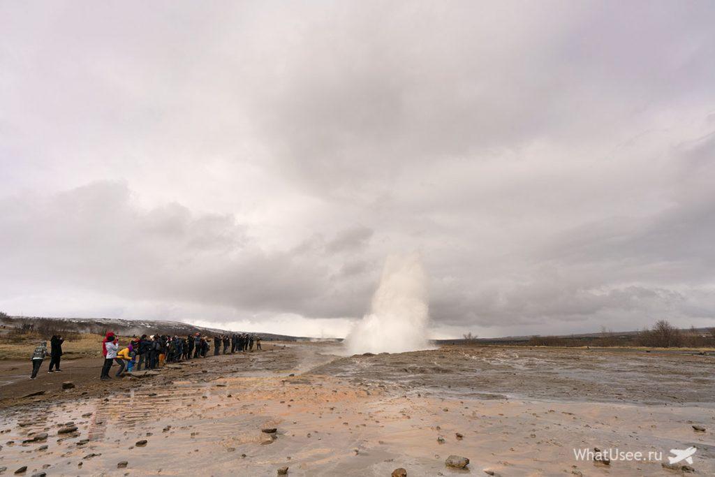 Гейзеры на Золотом Кольце Исландии