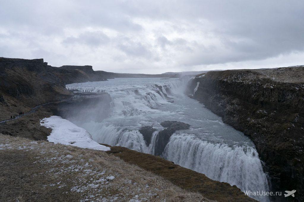 Водопады Золотое Кольцо Исландии