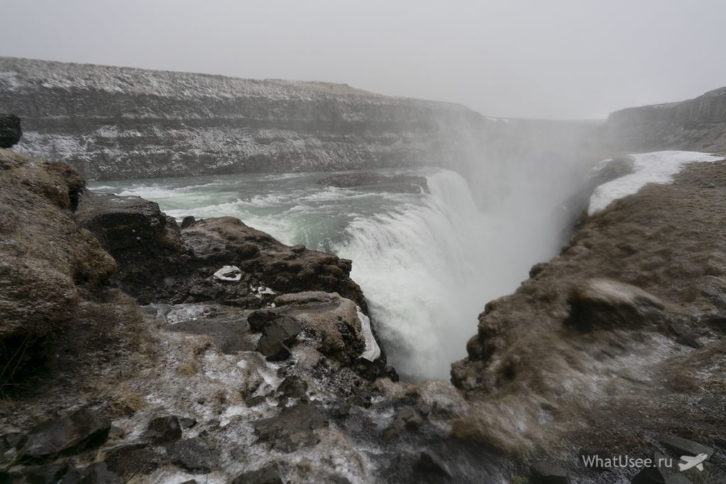 Водопад Гульфосс на Золотом Кольце Исландии