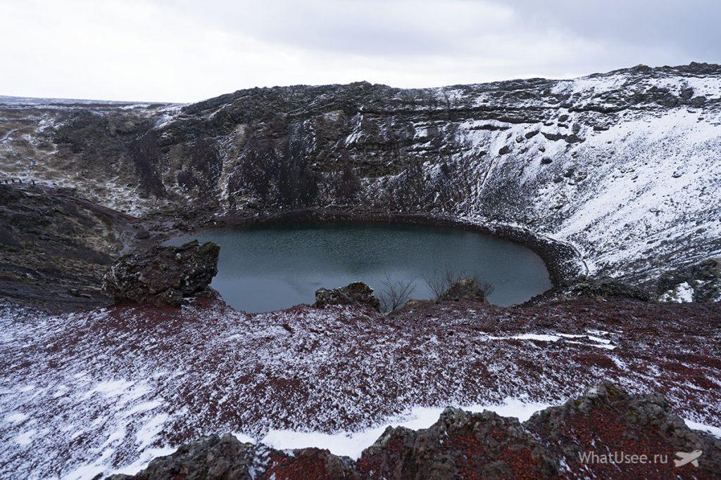 Кратер Керид и Золотое Кольцо Исландии