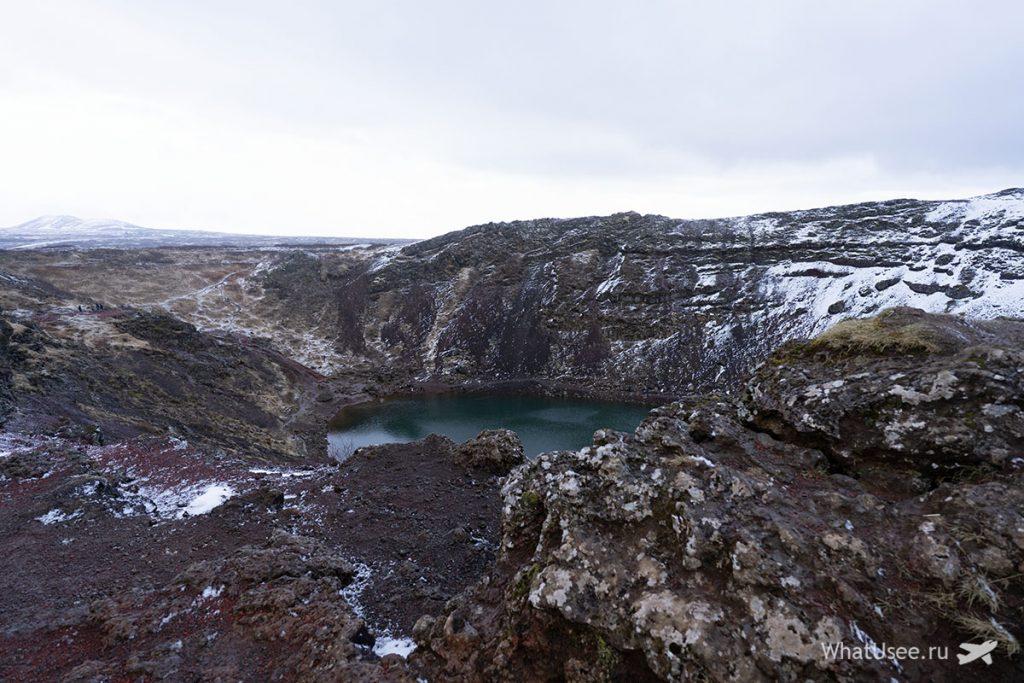Кратер Керид в Исландии