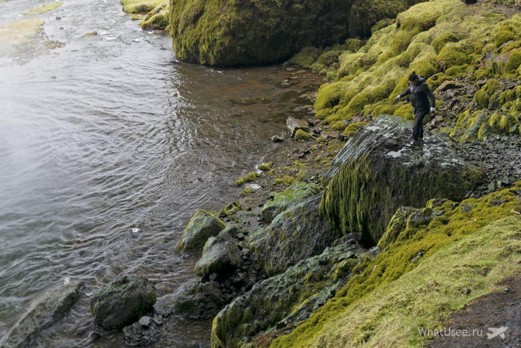 Водопад Сельяландсфосс Исландия