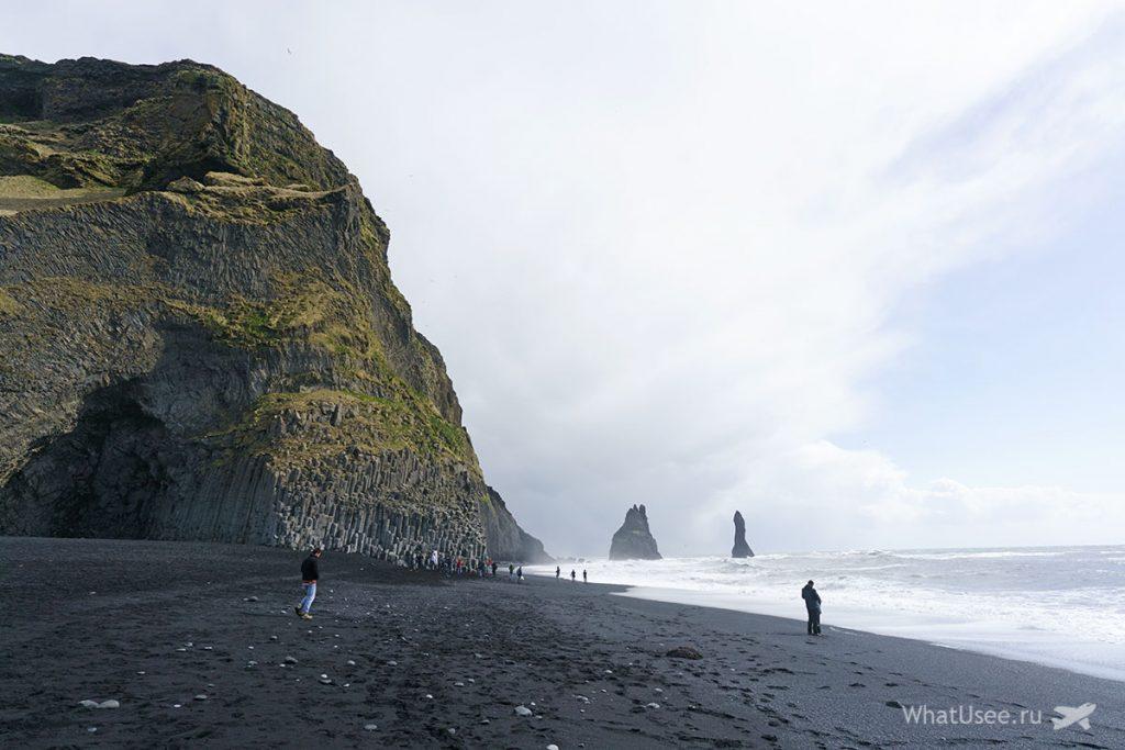 Чёрный пляж Vik Исландия