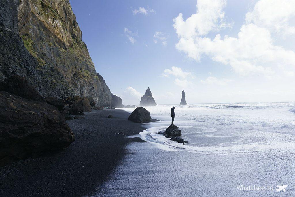Пляж Вик в Исландии