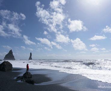 Исландия черный пляж Вик