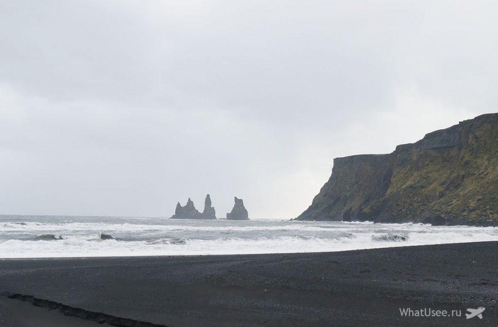 Чёрный пляж Reynisfjara Beach Исландия
